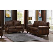 Montbrook Traditional Brown Two-piece Living Room Set Product Image