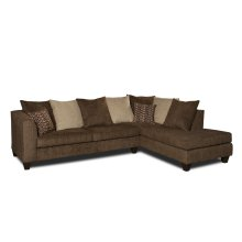 4184 SECTIONAL COMPLETE in Osaka Mocha (LAF Sofa & RAF Chaise)