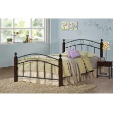 Kyan Twin Wood and Metal Bed