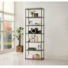 Contemporary Black Nickel Six-tier Bookcase Product Image