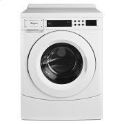 """27"""" Commercial High-Efficiency Energy Star-Qualified Front-Load Washer, Non-Vend White Product Image"""