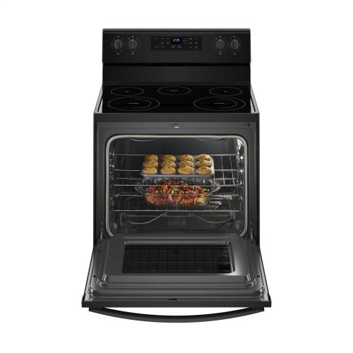 5.3 cu. ft. Freestanding Electric Range with Frozen Bake Technology Black