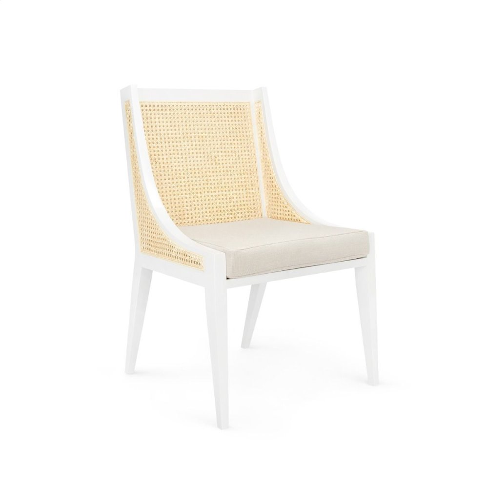 Raleigh Armchair, White