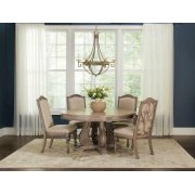 Ilana Traditional Round Formal Five-piece Dining Table Set Product Image