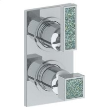 """Wall Mounted Mini Thermostatic Shower Trim With Built-in Control, 3 1/2"""" X 8"""""""