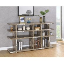 Rustic Salvaged Cabin Low-profile Bookcase