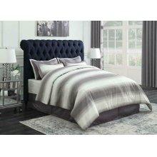 Gresham Navy Blue Upholstered King Bed