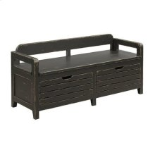 Mill House Engold Bed End Bench - Anvil Finish