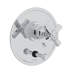 Polished Chrome San Giovanni Pressure Balance Trim With Diverter with Cross Handle Product Image