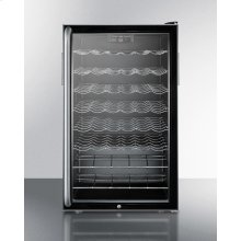 """Commercially Listed 20"""" Wide Wine Cellar for Built-in Use, With Lock, Digital Thermostat and Full-length Towel Bar Handle"""