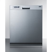 """24"""" Wide Energy Star Certified ADA Compliant Built-in Dishwasher Made In Europe A With Stainless Steel Door and Front Controls"""