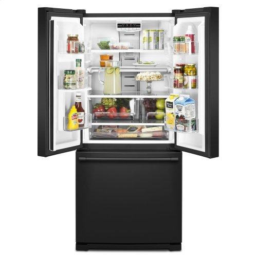 30-Inch Wide French Door Refrigerator - 20 Cu. Ft. Black