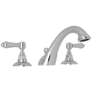 Polished Chrome Viaggio 3-Hole Deck Mount C-Spout Tub Filler with Metal Lever Product Image