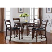 ZBRG8090 Breckenridge Round Pub Set ; Table & 4 Chairs