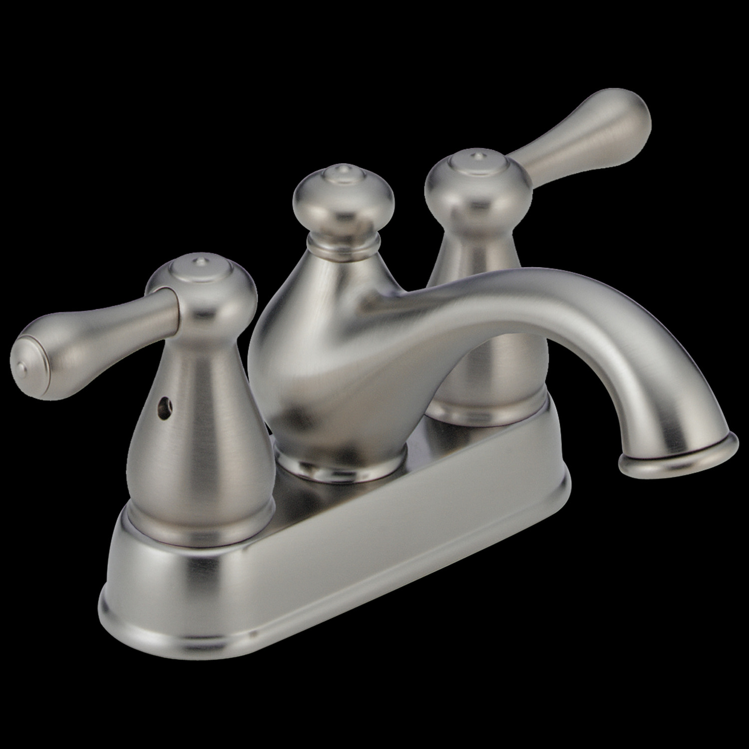 Stainless Two Handle Centerset Bathroom Faucet