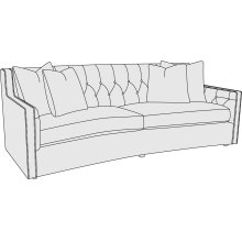 """Candace Sofa (89"""") in #44 Antique Nickel"""