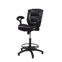Dawson Upholstered Adjustable Stool - Black