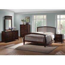 Tia Cappuccino Queen Five-piece Bedroom Set