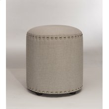Laura Backless Vanity Stool - Gray Fabric
