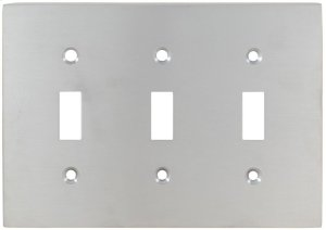 Triple Modern Switchplate in (US26D Satin Chrome Plated) Product Image