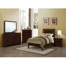 Serenity Twin Bed Rich Merlot