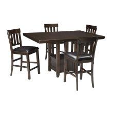 Haddigan - Dark Brown 5 Piece Dining Room Set