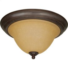 2-Light Large Flush Mount Ceiling Light in Sonoma Bronze with Champagne Glass