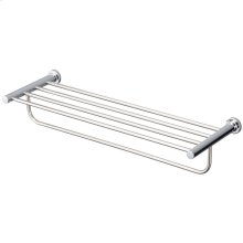 L-Series Round Towel Shelf - Polished Chrome Finish