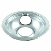 Round Chrome Electric Range Burner Drip Bowl - Other Product Image