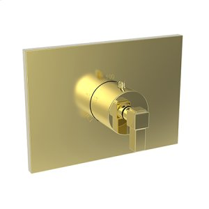 "Forever Brass - PVD 3/4"" Square Thermostatic Trim Plate with Handle Product Image"