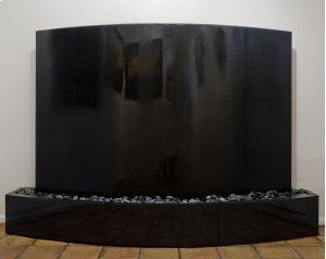 Curved Waterwall, Black Granite Black Granite Indoor Surround Product Image