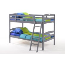 Sesame Twin Twin Bunk in Gray Finish