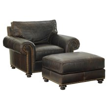 Riversdale Leather Ottoman