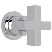 "Polished Chrome Pirellone 3/4"" Volume Control Trim with Cross Handle"