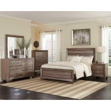 Kauffman Transitional Washed Taupe Queen Four-piece Set