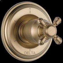 Champagne Bronze 6-Setting 3-Port Diverter Trim - Less Handle