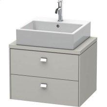 Brioso Vanity Unit For Console Compact, Concrete Gray Matte (decor)