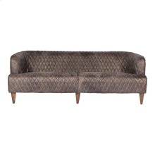 Magdelan Tufted Leather Sofa Antique Ebony