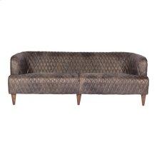 Magdelan Tufted Leather Sofa Antique Ebony