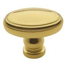 Polished Brass Decorative Oval Knob