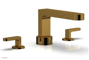 ROND Deck Tub Set - Lever Handles 183-41 - French Brass Product Image