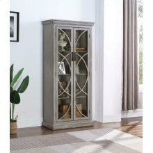 Rustic Antique Grey Curio Cabinet