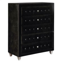 Deanna Contemporary Black and Metallic Chest