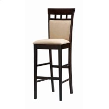 Gabriel Cappuccino Exposed Wood Bar Stool