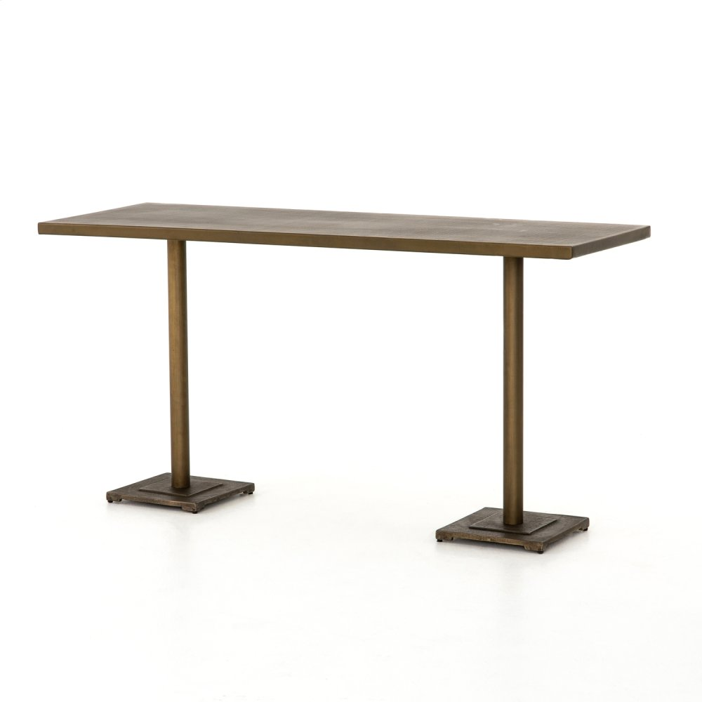 Counter Table Size Aged Brass Finish Fannin Large Bar + Counter Table