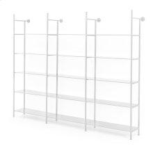 Enloe Modular Triple Bookshelf-white Nim