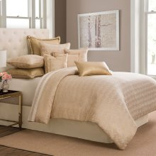 10 pc King Comforter Set Gold