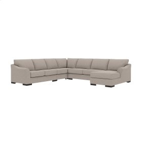 Bantry Nuvella® - Slate 5 Piece Sectional