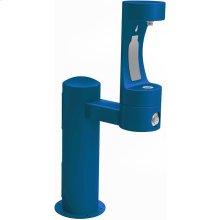 Elkay Outdoor EZH2O Bottle Filling Station Pedestal, Non-Filtered Non-Refrigerated Blue