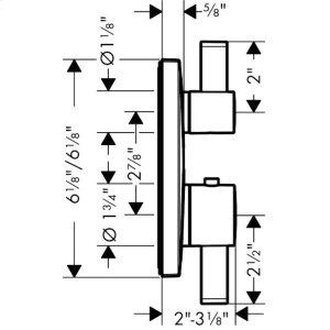 Chrome Thermostatic Trim with Volume Control